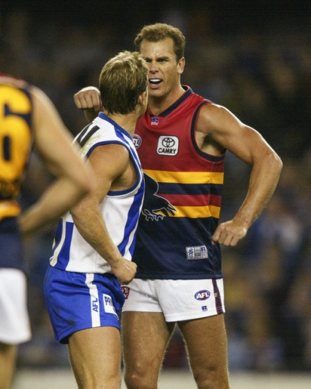 Glenn Archer confronts Wayne Carey