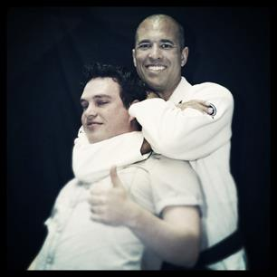 Jarrah Loh being throttled by Royce Gracie
