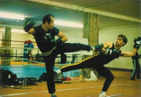 Dan et Salem training Savate