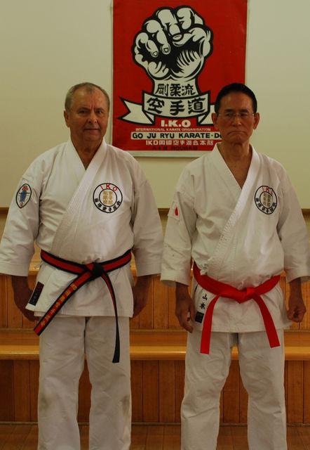 Shihan Andrew Roubas with Soshihan Gonnohyoe Yamamoto